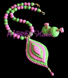 pink and green combo