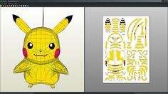 Pikachu papercraft unfod by Antyyy.deviantart.com on @DeviantArt