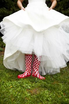 ADORABLE. If you're wedding is during the rainy season, we suggest you invest in some stylish rain boots.