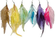 Feather earrings. | 33 Accessories Every '00s Teen Owned And Loved