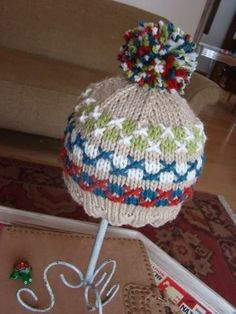 spud and chloe - camp hoodie swatch hat