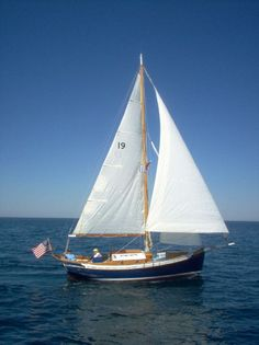 1988 Thomas Gillmer Blue Moon Cutter Sail Boat For Sale Wooden Boats For Sale, Small Sailboats, Sailboats For Sale, Duck Boat, Float Your Boat, Yacht Boat, Boat Rental, Sail Away, Small Boats