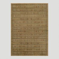 One of my favorite discoveries at WorldMarket.com: Ivory Striped Rug $250-830