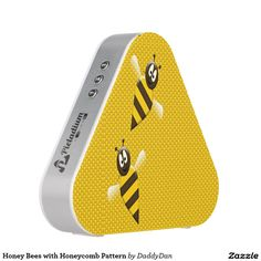 Honey Bees With Honeycomb Pattern Speaker
