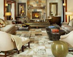 Worth Interiors ~ modern living room design ~ love the flooring!