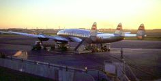 Chicago Midway Airport - TWA - Lockheed Constellation  (1949) A late afternoon shot of an early (049) connie.
