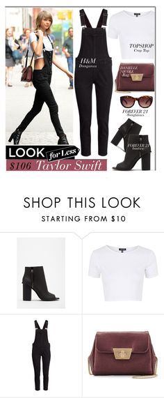 """Look For Less: Taylor Swift"" by monmondefou ❤ liked on Polyvore featuring Forever 21, Topshop, H&M, Danielle Nicole, GetTheLook, LookForLess, celebrity, CelebrityLook and CelebrityStyle"