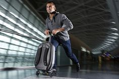 This innovative piece of luggage makes traveling quick and easy. Made by Swiss