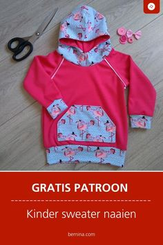 Sweater voor kinderen naaien - gratis patroon kinder sweater #naaien #naaitutorials  #naaipatroon #berninaNL Sewing Patterns Free, Fabric Patterns, Free Pattern, Sewing Ideas, Diy Clothes And Shoes, Kids Tops, Baby Sweaters, Sewing For Kids, Boy Outfits