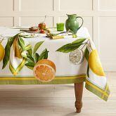 Botanical/Citrus Tablecloth