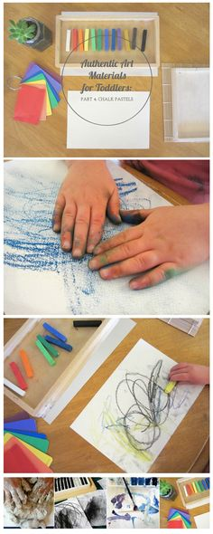 "{Authentic Art Materials for Toddlers Part Four: Chalk Pastels} ""The children will be drawn in, intrigued by the material's beauty and possibilities."""