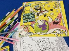Bob Esponja, pintura, lápis, canetinha, caderno de colorir.... Animación de Bob Esponja,