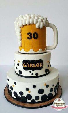 41 ideas for cake ideas for men birthday beer - Birthday Cake Flower Ideen 30th Birthday Cakes For Men, Beer Birthday Party, Funny Birthday Cakes, 40th Cake, 30th Birthday Parties, Man Birthday, 17th Birthday, Happy Birthday, Beer Mug Cake