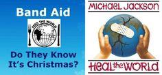 『バンドエイド 絆創膏』 Band Aid Do they know it's Christmas マイケル・ジャクソン ヒール・ザ・ワールド Michael Jackson Heal the World