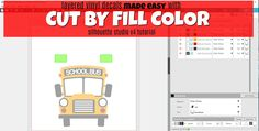 How to Use Cut by Fill Color in Silhouette Studio for Layering Vinyl Decals (Silhouette School) Silhouette Curio, Silhouette Vinyl, Silhouette Machine, Silhouette Design, Silhouette Cameo Tutorials, Silhouette Projects, Silhouette Studio Designer Edition, Silhouette School Blog, Inkscape Tutorials