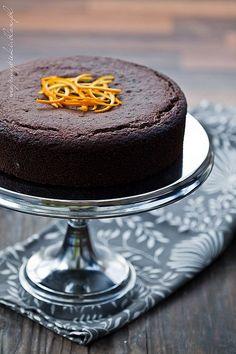 Ciasto czekoladowo - pomarańczowe (bezglutenowe)