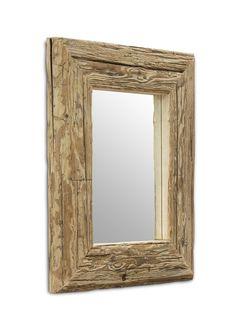 Spiegel mit Massivholzrahmen aus Fichte Altholz 80x60 21260. Buy now at https://www.moebel-wohnbar.de/spiegel-mit-massivholzrahmen-aus-fichte-altholz-80x60-21260.html