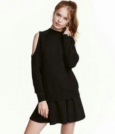dd3f70a1d4 OPEN-SHOULDER TOP #HM Cold Shoulder Sweater, Cold Shoulder Dress,  Turtleneck Top