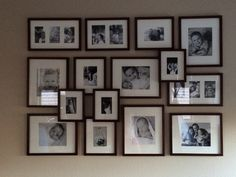 Potterybarn gallery frames for photo wall
