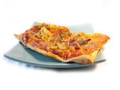 Pizza de puerros, cebolla y bacalao - Diabetes