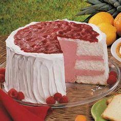 Sherbet Angel Torte Recipe | Taste of Home This looks amazing....