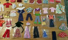 Vintage 1960's/1970's pippa doll collection, clothes and accessories.    The dolls are in fantastic condition and many of the accessories are like new. A very well cared for collection.    There are 28 pairs of shoes, 4 pairs of long boots, 2 pairs of ankle boots. Lots of dresses and outfits. Lots of accessories, including 4 clutch bags, pants, a pair of gloves, guitar and coat hangers.   With original Pippa carry case/wardrobe in excellent condition - please see photos.  Pippa's pony in…