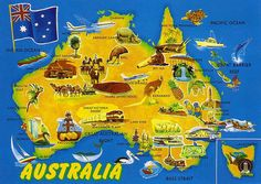 A lesson designed for or introducing Australia. Pupils practice map skills, complete a memory task and practice English skills. Coast Australia, Australia Travel, Visit Australia, Travel Maps, Travel Posters, Map Skills, Building For Kids, Holiday Places, Geography