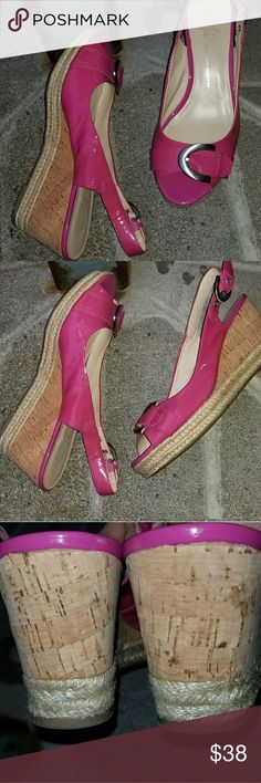 "Franco Sarto Patent Wedges In very good condition. Approx .5"" platform/3"" heel. Franco Sarto Shoes Wedges"