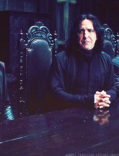 Alan Rickman as Professor Severus Snape. What a lot of pleasure he gave us! Sad about his death.