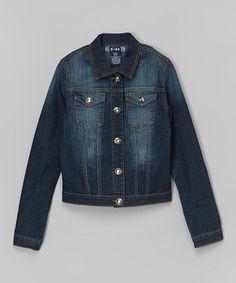 Look what I found on #zulily! Denim Jacket - Girls #zulilyfinds