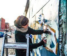 American painter and stencilist, Amanda Marie Stencil Art, Stencils, Amanda, Street Art, Creative, Sweet, Painting, Inspiration, Image