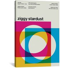 Swissted ZIGGY STARDUST AT RAINBOW THEATRE August 19th, 1972 ($88) ❤ liked on Polyvore featuring home, home decor, wall art, ziggy, textured wall art, texture poster, giclee wall art and rainbow wall art