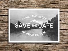 Pacific Northwest Postcard Save the Date // Vintage by factorymade