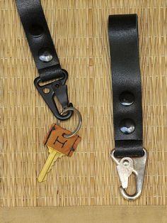 DIY Make a leather key fob, Kiku Corner
