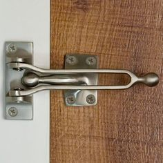 Solid Brass Door Guard - Satin Nickel