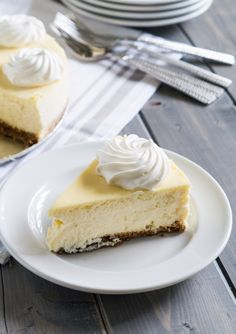 Classic Cheesecake with a Gingersnap Cookie Crust