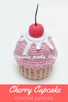 Such a cute crochet cupcake! What a fun pattern! #afflink #crochet #crochetpattern