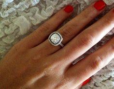 Interesting contrast of black diamonds with diamonds