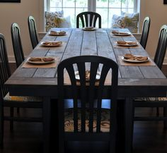 Farmhouse table...wish I had space for this!