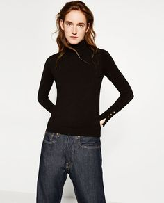 Image 2 of TURTLE NECK SWEATER from Zara