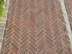 Brick Paving, Brick Path, Brick Flooring, Paving Stones, Concrete Patio, Garden Paving, Garden Paths, Paving Pattern, Dutch Gardens