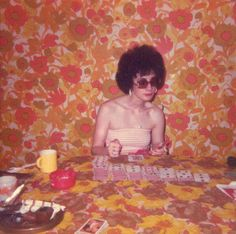 Once again, Trudy's questionable taste got the better of her at a fabric sale at Joanne's and her interior decorating business took a hit, thus leaving her with an abundance of spare time to seek  solace in a game of solitaire.