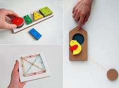 Amazing DIY Cardboard Learning Toys [via handmadecharlotte.com]  From http://www.playandgrow.ru/