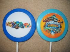 """1 chocolate skylander edible decal 3"""" round favor 