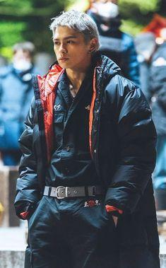 Red Leather, Leather Jacket, Japanese Men, Tokyo, Bomber Jacket, Actors, Stylish, Jackets, Boyfriends