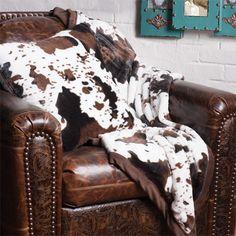 Cozy Faux Cowhide Pillow