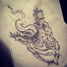 by Dean Kalcoff Tattoos Skull, Animal Tattoos, Black Tattoos, Body Art Tattoos, Word Tattoos, 1 Tattoo, Dark Tattoo, Tattoo Quotes, Tiny Tattoo