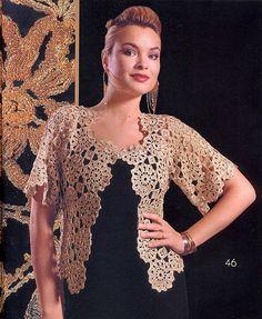 Crochetemoda: Crochet - Casaqueto Bege III