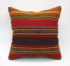 Square Kilim Pillow Decorative Pillow Bohemian Pillow Vintage Pillow Turkish Pillow Throw Pillow Kilim Pillow Kilim Cushion by TurqArts Kilim Cushions, Throw Pillows, Handmade Pillows, Decorative Pillows, Cushion Covers, Pillow Covers, Vintage Pillows, Bohemian Pillows, Woven Fabric
