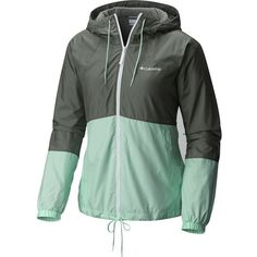 Columbia Flash Forward Lined Windbreaker ($60) ❤ liked on Polyvore featuring activewear, activewear jackets, columbia activewear, columbia sportswear and columbia